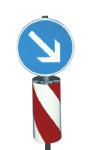 Verkehrsleitsäule, runde Form (Ausführung: linksweisend, Folie Typ 2 (Art.Nr.: 34928))