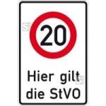 Verkehrsschild, Zulässige Höchstgeschwindigkeit ... km / h (individuelle Geschwindigkeitsangabe)