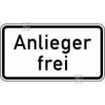 Verkehrszeichen StVO, Anlieger frei Nr. 1020-30 (Ma&szlig;e/Folie/Form:  <b>231x420mm</b>/RA1/Flachform 2mm (Art.Nr.: 1020-30-111))