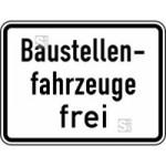Verkehrszeichen StVO, Baustellenfahrzeuge frei Nr. 1028-30 (Ma&szlig;e/Folie/Form:  <b>315x420mm</b>/RA1/Flachform 2mm (Art.Nr.: 1028-30-111))