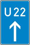 Verkehrszeichen StVO, Bedarfsumleitung, geradeaus Nr. 460-30 (Ma&szlig;e/Folie/Form:  <b>630x420mm</b>/RA1/Flachform 2mm (Art.Nr.: 460-30-111))