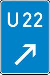 Verkehrszeichen StVO, Bedarfsumleitung, rechts einordnen Nr. 460-22 (Ma&szlig;e/Folie/Form:  <b>630x420mm</b>/RA1/Flachform 2mm (Art.Nr.: 460-22-111))