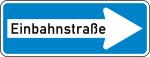 Verkehrszeichen StVO, Einbahnstraße (rechtsweisend) Nr. 220-20 (Folie/Form: RA1/Flachform 2mm (Art.Nr.: 220-20-11))