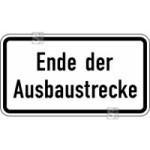Verkehrszeichen StVO, Ende der Ausbaustrecke Nr. 2139 (Ma&szlig;e/Folie/Form:  <b>231x420mm</b>/RA1/Flachform 2mm (Art.Nr.: 2139-111))