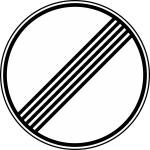 Verkehrszeichen StVO, Ende s&auml;mtlicher streckenbezogener Geschwindigkeitsbeschr&auml;nkungen... Nr. 282 (Durchmesser/Folie/Form:  <b>600mm</b>/RA1/Flachform 2mm (Art.Nr.: 282-211))