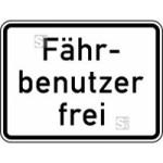 Verkehrszeichen StVO, F&auml;hrbenutzer frei Nr. 1028-34 (Ma&szlig;e/Folie/Form:  <b>315x420mm</b>/RA1/Flachform 2mm (Art.Nr.: 1028-34-111))