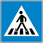 Verkehrszeichen StVO, Fußgängerüberweg Aufstellung rechts Nr. 350-10 (Folie/Form: RA1/Flachform 2mm (Art.Nr.: 350-10-211))