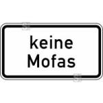 Verkehrszeichen StVO, Keine Mofas Nr. 1012-33 (Ma&szlig;e/Folie/Form:  <b>231x420mm</b>/RA1/Flachform 2mm (Art.Nr.: 1012-33-111))