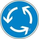 Verkehrszeichen StVO, Kreisverkehr Nr. 215 (Durchmesser/Folie/Form:  <b>420mm</b>/RA1/Flachform 2mm (Art.Nr.: 215-111))