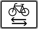 Verkehrszeichen StVO, Kreuzender Radfahrerverkehr von links und rechts Nr. 1000-32 (Ma&szlig;e/Folie/Form:  <b>315x420mm</b>/RA1/Flachform 2mm (Art.Nr.: 1000-32-111))