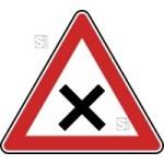 Verkehrszeichen StVO, Kreuzung oder Einm&uuml;ndung Nr. 102 (Seitenl&auml;nge/Folie/Form:  <b>630mm</b>/RA1/Flachform 2mm (Art.Nr.: 102-111))