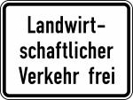 Verkehrszeichen StVO, Landwirtschaftlicher Verkehr frei Nr. 1026-36 (Ma&szlig;e/Folie/Form:  <b>315x420mm</b>/RA1/Flachform 2mm (Art.Nr.: 1026-36-111))