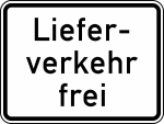 Verkehrszeichen StVO, Lieferverkehr frei Nr. 1026-35 (Ma&szlig;e/Folie/Form:  <b>315x420mm</b>/RA1/Flachform 2mm (Art.Nr.: 1026-35-111))