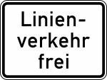 Verkehrszeichen StVO, Linienverkehr frei Nr. 1026-32 (Ma&szlig;e/Folie/Form:  <b>315x420mm</b>/RA1/Flachform 2mm (Art.Nr.: 1026-32-111))