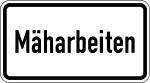 Verkehrszeichen StVO, M&auml;harbeiten Nr. 2122 (Ma&szlig;e/Folie/Form:  <b>231x420mm</b>/RA1/Flachform 2mm (Art.Nr.: 2122-111))