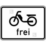 Verkehrszeichen StVO, Mofas frei Nr. 1022-11 (Ma&szlig;e/Folie/Form:  <b>315x420mm</b>/RA1/Flachform 2mm (Art.Nr.: 1022-11-111))