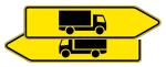 Verkehrszeichen StVO, Pfeilwegweiser für KFZ mit einer zulässigen Ges..., doppelseitig Nr. 421-40 (Folie/Form: RA1/Flachform 2mm (Art.Nr.: 421-40-111))