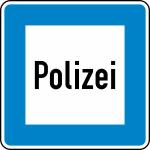 Verkehrszeichen StVO, Polizei Nr. 363 (Ma&szlig;e/Folie/Form:  <b>600x600mm</b>/RA1/Flachform 2mm (Art.Nr.: 363-111))