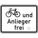 Verkehrszeichen StVO, Radverkehr und Anlieger frei Nr. 1020-12 (Ma&szlig;e/Folie/Form:  <b>315x420mm</b>/RA1/Flachform 2mm (Art.Nr.: 1020-12-111))