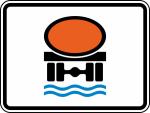 Verkehrszeichen StVO, Streckenverbot für Fahrzeuge mit wassergefährdender Ladung Nr. 1052-31