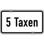 Verkehrszeichen StVO, ... Taxen Nr. 1050-31 (Ma&szlig;e/Folie/Form:  <b>231x420mm</b>/RA1/Flachform 2mm (Art.Nr.: 1050-31-111))