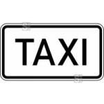 Verkehrszeichen StVO, Taxi Nr. 1050-30 (Ma&szlig;e/Folie/Form:  <b>231x420mm</b>/RA1/Flachform 2mm (Art.Nr.: 1050-30-111))
