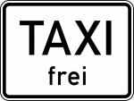 Verkehrszeichen StVO, Taxi frei Nr. 1026-30 (Ma&szlig;e/Folie/Form:  <b>315x420mm</b>/RA1/Flachform 2mm (Art.Nr.: 1026-30-111))