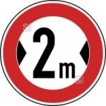 Verkehrszeichen StVO, Verbot f&uuml;r Fahrzeuge &uuml;ber ... Breite Nr. 264 (Durchmesser/Folie/Form:  <b>600mm</b>/RA1/Flachform 2mm (Art.Nr.: 264-211))