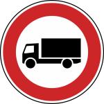 Verkehrszeichen StVO, Verbot f&uuml;r Kraftfahrzeuge &uuml;ber 3,5 t Nr. 253 (Durchmesser/Folie/Form:  <b>420mm</b>/RA1/Flachform 2mm (Art.Nr.: 253-111))