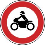 Verkehrszeichen StVO, Verbot f&uuml;r Kraftr&auml;der Nr. 255 (Durchmesser/Folie/Form:  <b>420mm</b>/RA1/Flachform 2mm (Art.Nr.: 255-111))
