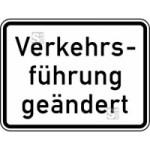 Verkehrszeichen StVO, Verkehrsf&uuml;hrung ge&auml;ndert Nr. 1008-31 (Ma&szlig;e/Folie/Form:  <b>315x420mm</b>/RA1/Flachform 2mm (Art.Nr.: 1008-31-111))