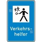 Verkehrszeichen StVO, Verkehrshelfer Nr. 356 (Ma&szlig;e/Folie/Form:  <b>630x420mm</b>/RA1/Flachform 2mm (Art.Nr.: 356-111))