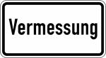 Verkehrszeichen StVO, Vermessung Nr. 2121 (Ma&szlig;e/Folie/Form:  <b>231x420mm</b>/RA1/Flachform 2mm (Art.Nr.: 2121-111))