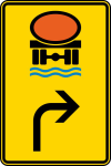 Verkehrszeichen StVO, Vorwegweiser f&uuml;r Fahrzeuge mit wassergef&auml;hr... (rechtsweisend) Nr. 442-22 (Ma&szlig;e/Folie/Form:  <b>630x420mm</b>/RA1/Flachform 2mm (Art.Nr.: 442-22-111))