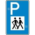 Verkehrszeichen StVO, Wandererparkplatz Nr. 317 (Ma&szlig;e/Folie/Form:  <b>630x420mm</b>/RA1/Flachform 2mm (Art.Nr.: 317-111))