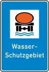 Verkehrszeichen StVO, Wasserschutzgebiet Nr. 354 (Ma&szlig;e/Folie/Form:  <b>630x420mm</b>/RA1/Flachform 2mm (Art.Nr.: 354-111))