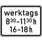 Verkehrszeichen StVO, Zeitliche Beschr&auml;nkung werktags Nr. 1042-32 (Ma&szlig;e/Folie/Form:  <b>315x420mm</b>/RA1/Flachform 2mm (Art.Nr.: 1042-32-111))