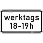 Verkehrszeichen StVO, Zeitliche Beschr&auml;nkung werktags ... - ... h Nr. 1042-31 (Ma&szlig;e/Folie/Form:  <b>231x420mm</b>/RA1/Flachform 2mm (Art.Nr.: 1042-31-111))