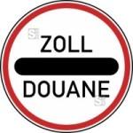 Verkehrszeichen StVO, Zollstelle Nr. 392 (Maße/Folie/Form: 600mm/RA1/Flachform 2mm (Art.Nr.: 392-111))