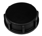 Verschlusskappe aus PVC, IG Ø 2 Zoll, schwarz