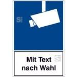 Video-Infozeichen, nach DIN 33450, mit Wunschtext (Maße (BxH)/Material: 100x150 mm/Folie (Art.Nr.: 21.g5015))