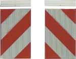 Warnmarkierung für Fahrzeuge mit Hubladebühne, 3M-Folie, nach DIN 67520 (Varianten: Markierung links (Art.Nr.: 20388))