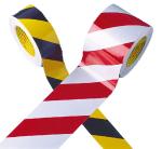 Warnmarkierungsband -3M-Scotchlite- retroreflektierend (Breite/Rollen/Farbe:  <b>50 mm, gelb/schwarz</b><br>2 Rollen &agrave; 25 m<br>je 1 x links- u. rechtsweisend (Art.Nr.: 26.0390))