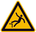 Warnschild, Warnung vor Absturzgefahr (Maße (SL)/Material: 100mm/Folie,selbstklebend (Art.Nr.: 21.a8185))