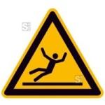 Warnschild, Warnung vor Rutschgefahr (Maße (SL)/Material: 100mm/Folie,selbstklebend (Art.Nr.: 21.a8170))