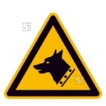 Warnschild, Warnung vor Wachhund (Maße (SL)/Material: 200mm/Folie,selbstklebend (Art.Nr.: 21.a8240))