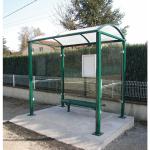 Wartehalle -Station-, Breite 2500 mm, mit Fahrplanschaukasten