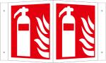 Winkel- u. Fahnenschild, Feuerl&ouml;scher (Ma&szlig;e(BxH)/Variante/Material: 150x150mm/Winkelschild<br>Alu hart,nicht langnachl. (Art.Nr.: 51.a5030))