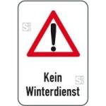 Winterschild / Verkehrszeichen, Kein Winterdienst mit Piktogramm Achtung-Zeichen (Maße (BxH): 400x600mm (Art.Nr.: 14719))
