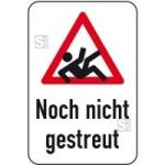 Winterschild / Verkehrszeichen, Noch nicht gestreut (Maße (BxH): 400x600mm (Art.Nr.: 14727))